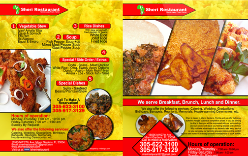 Graphic design graphic design websites prints for African cuisine menu